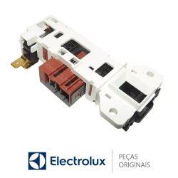 Bloco Trava Porta  Bivolt Electrolux LTC07 LTD16 LDD16 LTD06 LTE12 LTD13 LTD15 LTA13 LAC12 LAC13 LAC16 LAP16 LAI17     Original